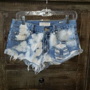 Sz 5 Bullhead denim Co slouchy Jean shorts